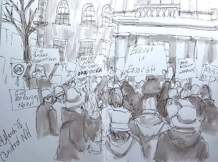 March 24 2018 sketch at State House 2