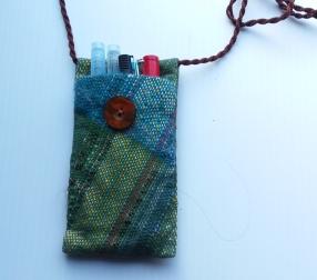 SAORI original art pouch
